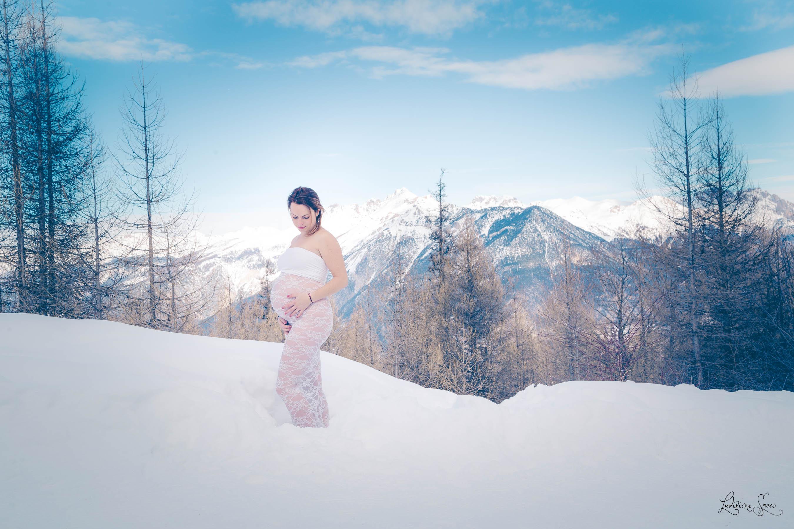 Grossesse au ski – Victoire & Mathieu